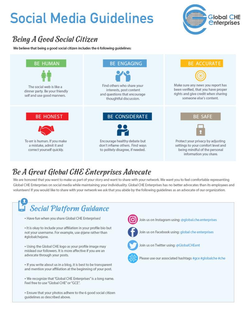Global CHE Social Media Guidelines